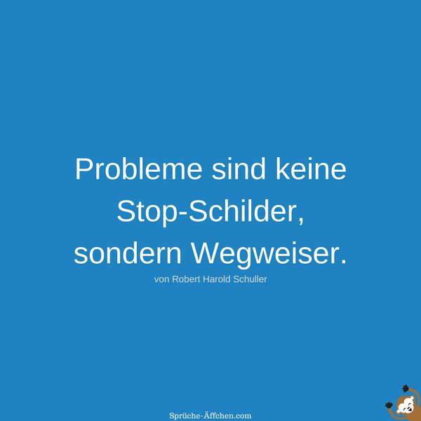 Motivationssprüche - Probleme sind keine Stop-Schilder, sondern Wegweiser. -Robert Harold Schuller