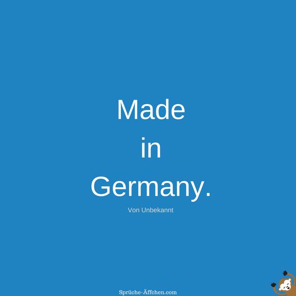 Tattoo Sprüche - Made in Germany. -Unbekannt